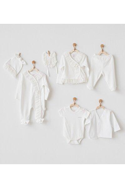 Beyaz Bebek Hastane Çıkış Seti 7'li