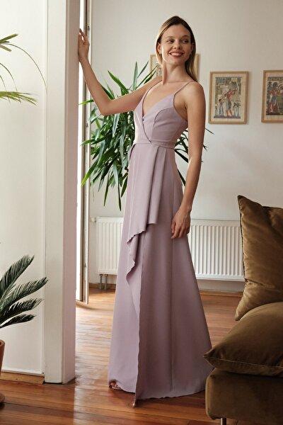 Lila Peplum Detaylı Abiye & Mezuniyet Elbisesi TPRSS20AE0272