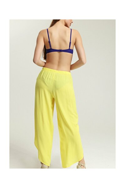Kadın Sarı Cuba Pantolon Pareo