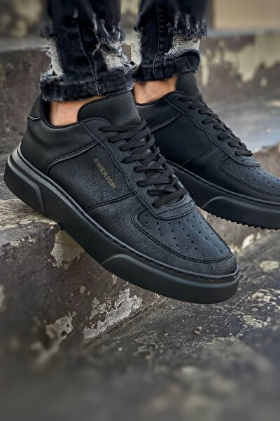 St Erkek Ayakkabı Siyah / Siyah Ch087