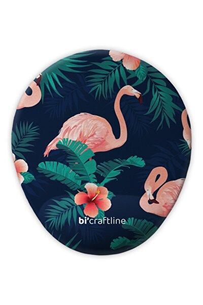 Flamingo Tropikal Yapraklı Bilek Destekli Mousepad