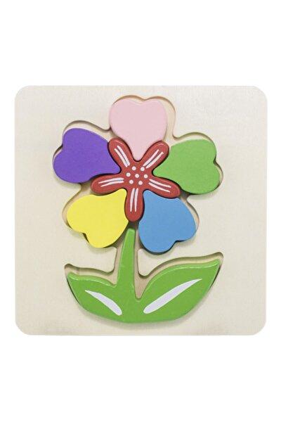 Ahşap Mini Puzzle Çiçek