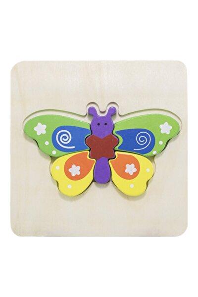 Ahşap Mini Puzzle Kelebek