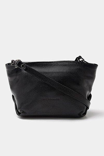 Hakiki Deri Siyah Çanta&Aksesuar Mini (Çapraz) Çanta