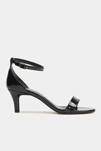 Siyah Kadın Topuklu Sandalet
