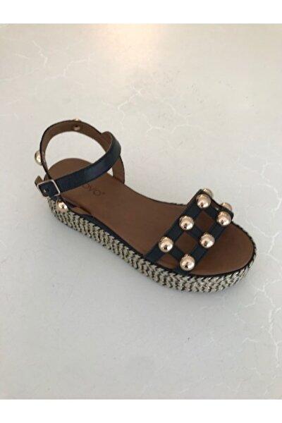 Kadın Deri Kalın Topuk Sandalet