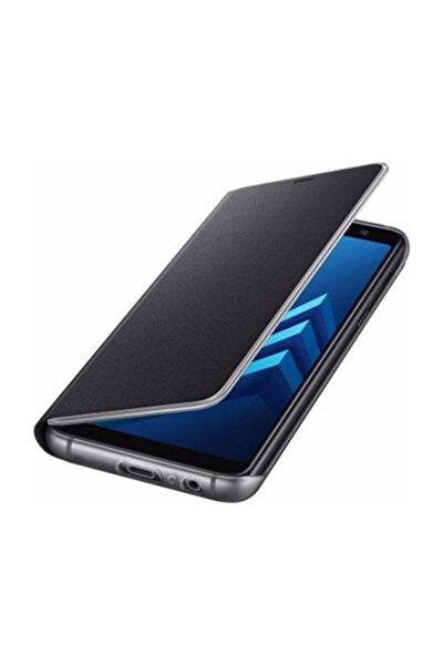 Galaxy A8 2018 Orjinal Neon Flip Cover - Siyah EF-FA530PBEG