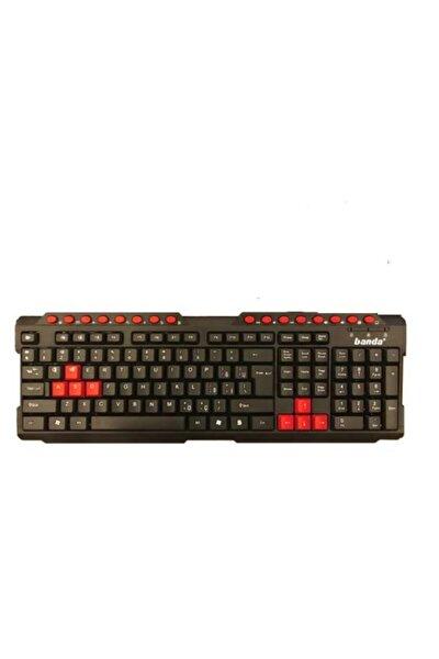 Bw-09 Siyah Usb Q Kırmızı Tuşlu Standart Klavye