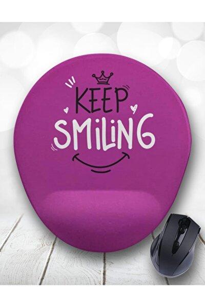 Keep Smling Gülümse Bilek Destekli Mouse Pad