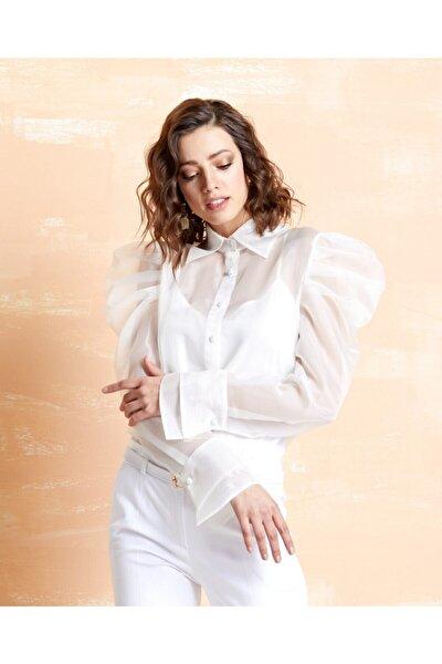 Kadın Organze Gömlek