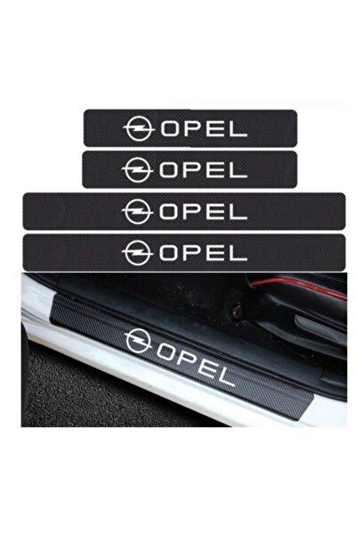 Opel Carbon Fiber Kapı Eşiği Yazısı Sticker 4 Adet