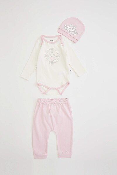 Kız Bebek Baskılı 3'lü Set