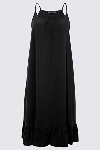 Kadın Siyah Swing Plaj Elbisesi T52006250H