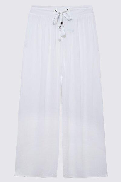 Kadın Beyaz Krinkle Pantolon T52009893