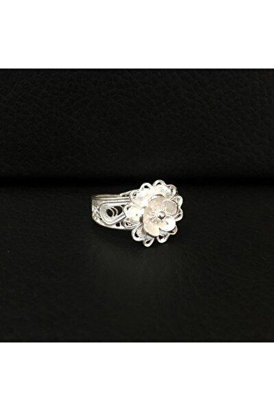 925 Ayar Gümüş Telkari Çiçek Yüzük