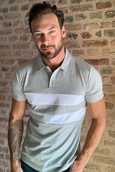 Gri Panelli Polo Yaka T-shirt TMNSS20PO0164