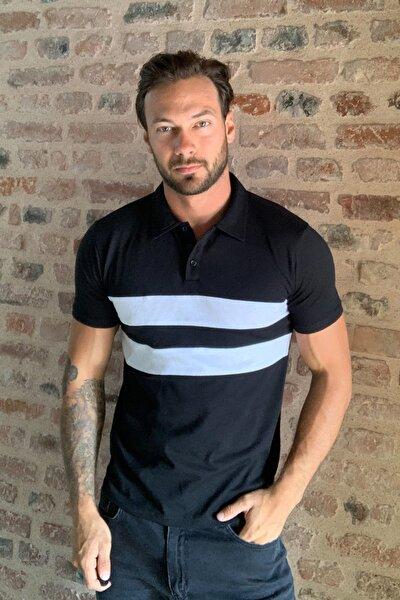 Siyah Panelli Polo Yaka T-shirt TMNSS20PO0164