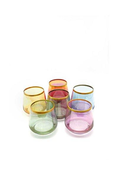 6'lı Renkli Kahve Yanı Su Bardağı