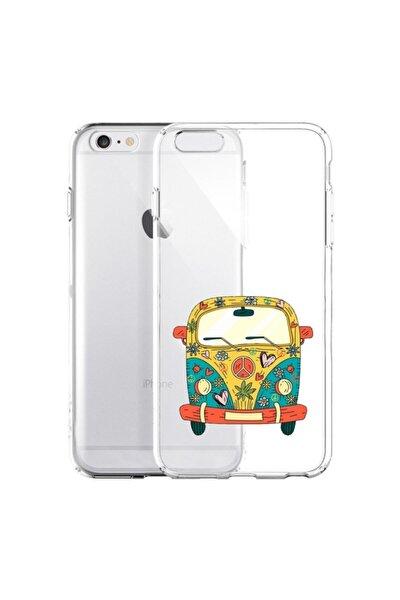 Iphone 6 Plus / 6s Plus Peace Desenli Şeffaf Telefon Kılıfı