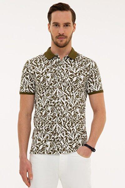 Erkek Haki Slim Fit Polo Yaka T-Shirt