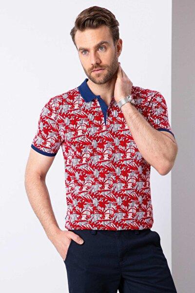 Erkek Kırmızı Slim Fit T-Shirt