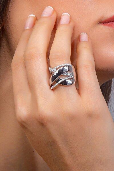 Elegant Tasarım Zirkon Taşlı Kadın Gümüş Yüzük  TRNDGP0000192