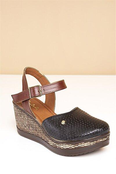 Pc-2392 Siyah Kadın Sandalet
