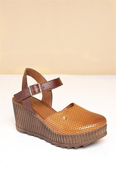Pc-2123 Taba Kadın Sandalet