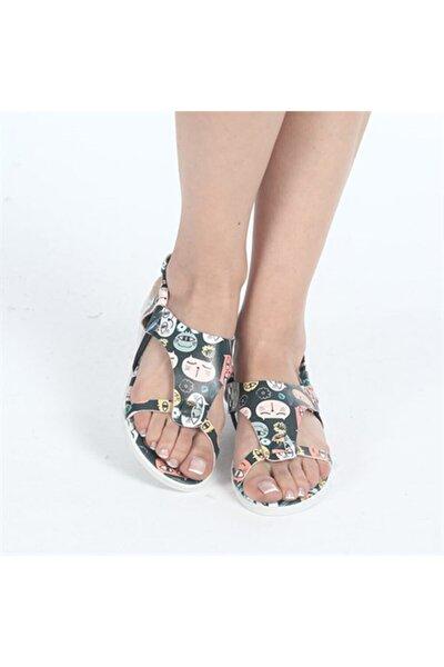 Kadın Kedi Temalı Sandalet