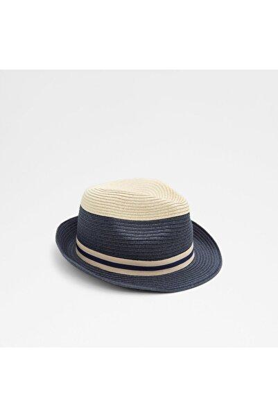 Kadın Lacivert Hasır Şapka