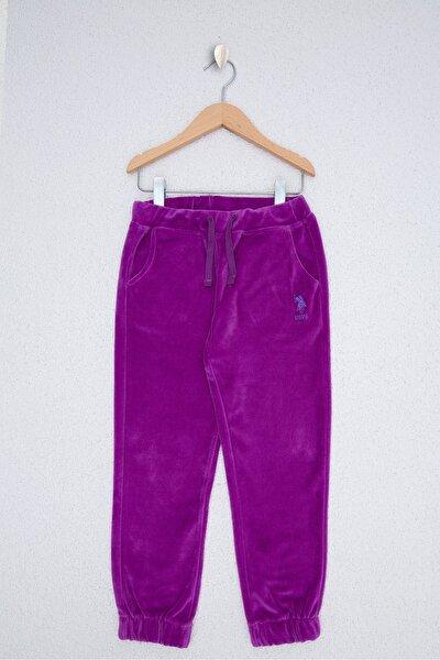 Pembe Kız Cocuk Örme Pantolon