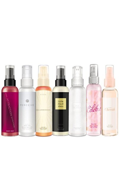 Body Mist Parfümlü Vücut Spreyleri Yedili Paket