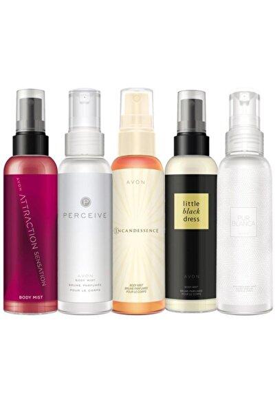 Body Mist Parfümlü Vücut Spreyleri Beşli Paket