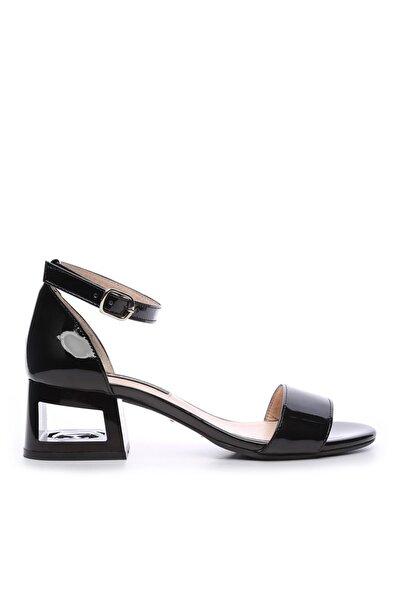 Siyah Kadın Vegan Topuklu Ayakkabı 51 2029 BN AYK Y19