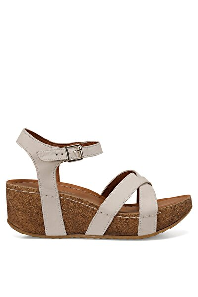 Goyard Beyaz Kadın Dolgu Topuklu Sandalet