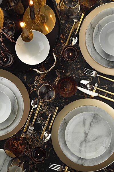 Marble Zeugma 24 Parça Yemek Seti Dekor Dg385