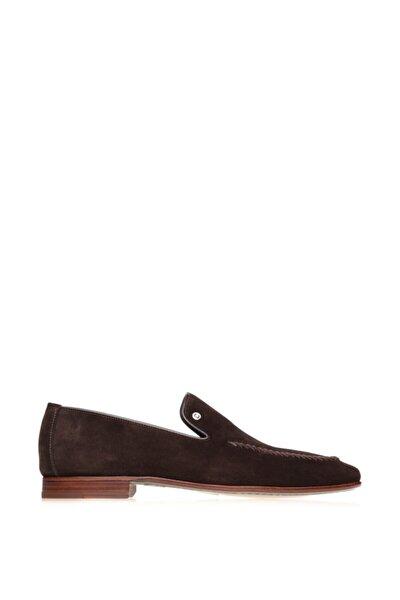 Kahverengi Süet Dikişli Erkek Ayakkabı