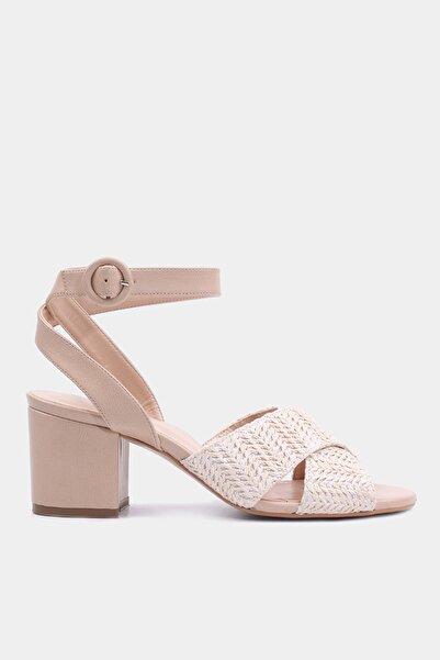 Naturel Kadın Topuklu Sandalet