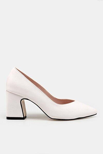 Beyaz Kadın  Klasik Topuklu Ayakkabı 01AYH176330A900