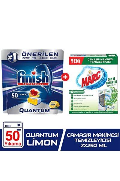 Quantum 50 Bulaşık Makinesi Deterjanı Limon+Çamaşır Makinesi Temizleyici Çam ve Okaliptus Ferahlığı