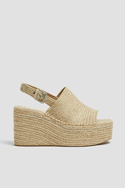 Kadın Doğal Doğal Dolgu Topuklu Sandalet 11515540