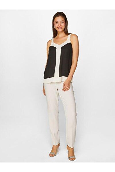 Kadın Siyah Renk Bloklu Bluz 60132 U60132