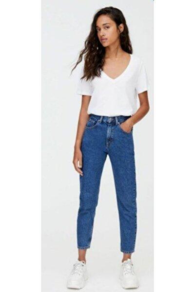 Kadın Mavi Mom Jeans