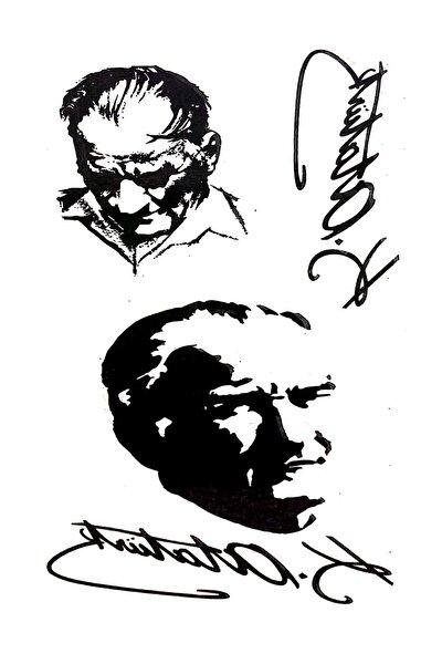 Tattoo Geçici Dövme Atatürk Imza Dövmesi Modelleri