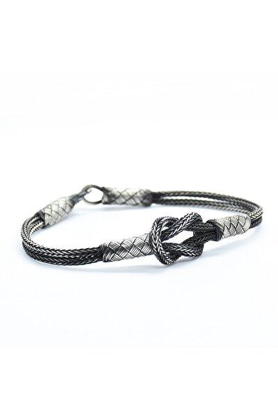 Gemici Düğümü Özel Tasarım El Örmesi 1000 Ayar Kazaziye Gümüş Bileklik