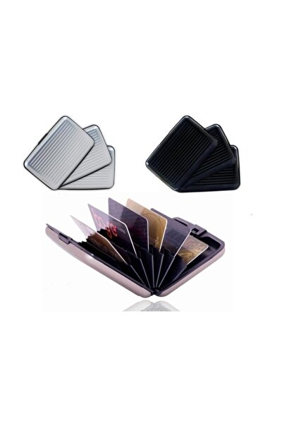 7 Bölmeli Metal Kredi Kartlık