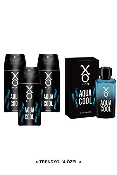 Aqua Cool Men Edt Parfüm 100 ml Erkek Parfümü +Deodorant 3 x 150 ml 7777777176629
