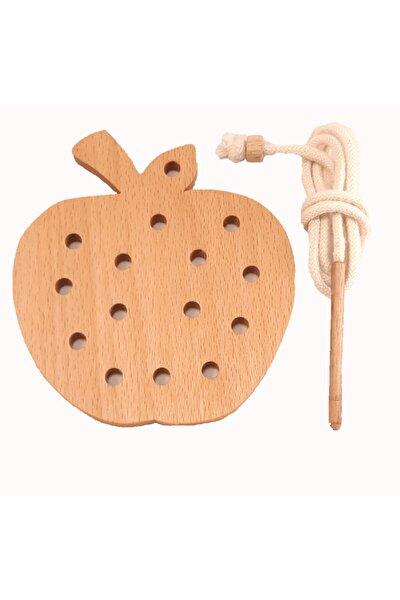 İp Geçirme Elma Montessori Oyunu