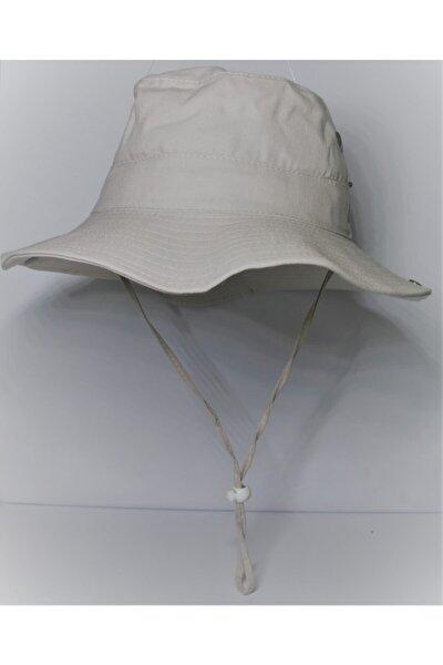 Unisex Açık Gri Yazlık Katlanabilir Safari Şapka