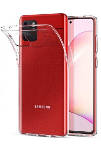 Samsung Galaxy Note 10 Lite Kılıf Ultra Ince Esnek Süper Silikon 0.3mm - Şeffaf